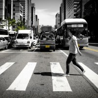 Crosswalk in Seoul